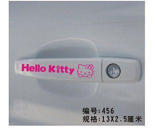 2x Hello Kitty Car Truck Motor door handle Sticker Graphics Vinyl