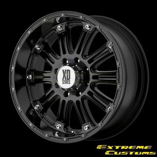 XD Series XD795 Hoss Gloss Black 5 6 8 Lugs Wheels Rims FREE LUGS