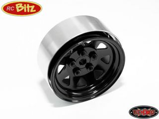 Lug Wagon 1.9 scale Steel Stamped Beadlock Wheels BLACK Pin Mount