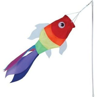windsock 19 rainbow fish windsock with plastic wand time left