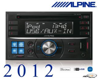 Alpine CDE W233R Double din cd player + usb + ipod   New and 2012
