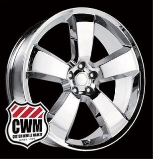 20x9 Dodge Charger SRT8 Style Chrome Wheels Rims for Chrysler 300