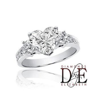 heart shaped diamond engagement rings in Engagement Rings