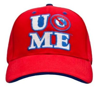 john cena red cenation baseball cap hat wwe new one