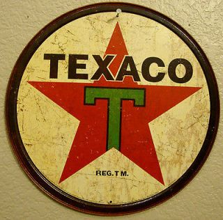 TEXACO STAR LOGO 1950s Antique Vintage Look Oil Gas Pump Americana
