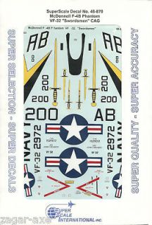 48 superscale decals f 4b phantom vf 32 cag