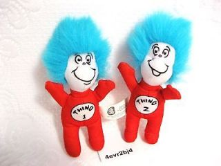 DR SEUSS PLUSH CAT IN HAT THING 1 & 2 TOY DOLLS BURGER KING MEAL TOYS