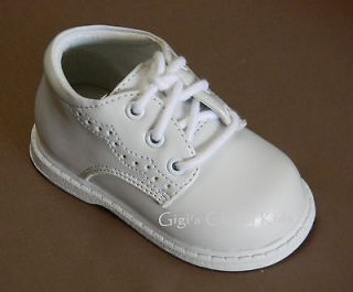New Toddler Boys White Formal Dress Shoes Size 6 Wedding Baptism