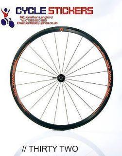 reynolds thirty two wheel decals sticker graphics reynolds bike wheels