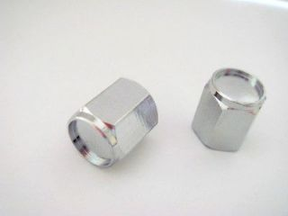 CHROME silver Tire/Wheel stem VALVE CAPS COVERS for Motorcycle