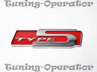Honda Acura Type S emblem badge sticker decal RSX Red JDM NEW