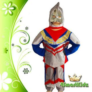 LIMITED OFFER Ultraman Tiga Hero Kid Boy Fancy Party Costume Size 2