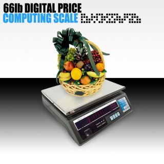 Newly listed 60lb Digital Electronic Scale Price Computing Deli Food
