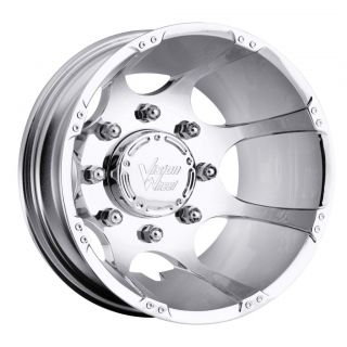 17 inch vision crazy eightz chrome dually 8x6 5 8x165
