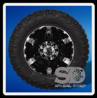 18 XD SPY GLOSS BLACK WITH 285 65 18 NITTO TRAIL GRAPPLER MT TIRES