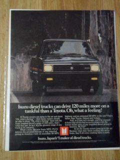 1982 print ad isuzu diesel black pickup truck time left