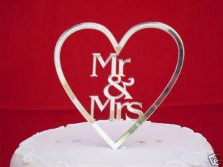Brand New MR & MRS in heart WEDDING CAKE TOPPER ♥♥♥