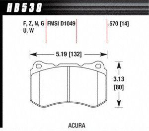 Hawk Performance HB530F.570 Disc Brake Pad