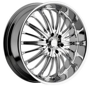 28 inch 28x10 akuza belle chrome wheels rims 5x5 5x127