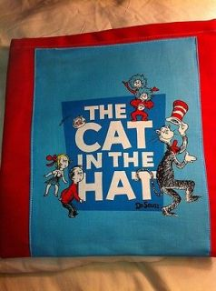 Remnant Fabric Dr Seuss Cat in the Hat Characters Blue Sq Qlt Sq 11 1