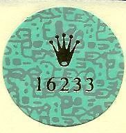 Newly listed Vintage Mens Rolex Watch 16233 Caseback Decal Sticker