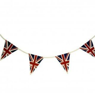 British Union Jack Uk Triangle Bunting Flags Great Britain 25ft