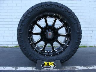 18 XD BOMB XD806 Black 285/65R18 Nitto Trail Grappler MT Tires 33 GM