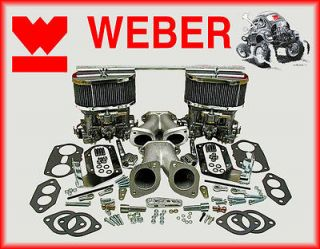 Weber Carburetor Conversion Kit Dual (2) 44IDF Carb For Volkswagen
