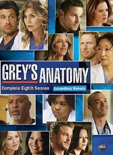 Greys Anatomy The Complete Eighth Season (DVD, 2012, 6 Disc Set)