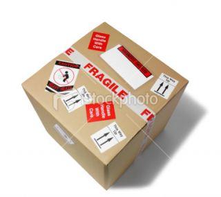 stock photo 8511388 isolated cardboard box