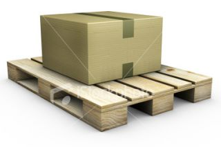 stock photo 5071512 cardboard box on a pallet