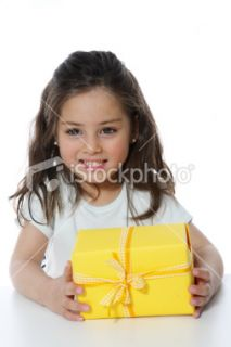 stock photo 7304247 little girl with gift