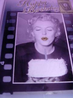 MARILYN MONROE BIRTHDAY CARD MUSICAL SINGING HAPPY BIRTHDAY & BLOWING