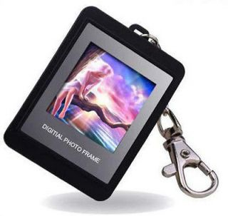 Newly listed black Digital Photo Picture Frame Key Chain Keyring