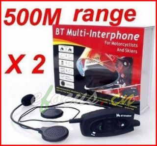 BT interphone bluetooth motorcycle Motorbike helmet intercom