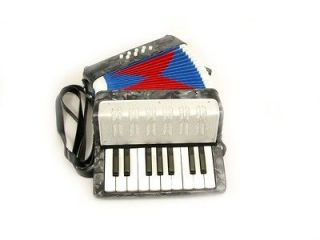Newly listed ACCORDION SILVER 17 KEYS BUTTONS + 8 BASS PADS KEY C