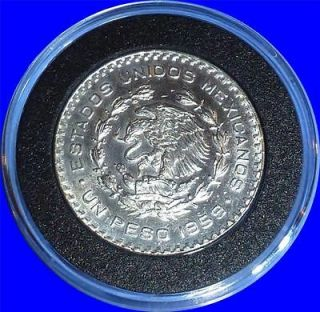 1964 Mexican Un Peso Silver Coin THREE Mexican Silver Dollars 3 TOTAL