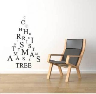 LETTERS CHRISTMAS TREE WALL WINDOW STICKER XMAS DECORATION DECAL