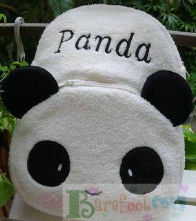 New Cool CUTE Panda~~ STYLISH TODDLER CHILDRENS 3 ZIPPERS SOFT PLUSH