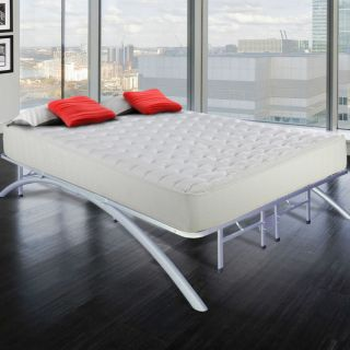 Modern Asian Style Zen Metal Platform Bed Frame with Arching Bow Legs