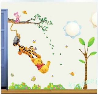 Large Winnie the Pooh Swing Tree Removable PVC Wall Sticker Decal