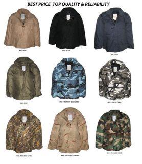 vintage m65 us military army field combat jacket xs 6xl