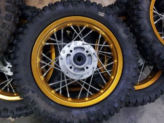 Pitbike Front Wheel 2.75 x 10 Gold (Pair 2 x Tires) Pit Bike
