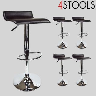 Newly listed 4 New Black Swivel Seat Modern Bombo Chair Pub Bar Stool