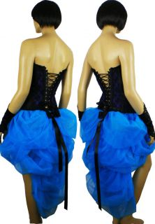Blue Burlesque Carnival Mardi Gras Moulin Rouge Dress Up Costume Skirt