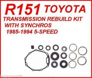 R151 R154 TOYOTA 5 SPEED MANUAL TRANSMISSION REBUILD KIT WITH SYNCHROS