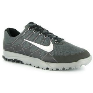 Nike Mens Air Range WP II Golf Shoes   Dark Gray/Silver/Black