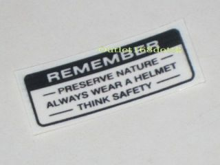 sticker decal remember honda cb100 c102 c70 cl90 xl125 from