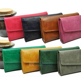 Women Leather Wallet Purse Lady Long Clutch Handbag Girl Card Coin Bag