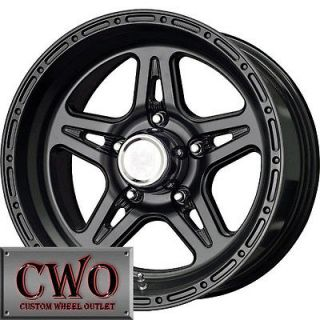 16 Black Level 8 Strike 5 Wheels Rims 5x127 5 Lug Chevy GMC C1500 Jeep
